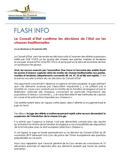 20200922 Flash Info Referes chasses traditionnelles